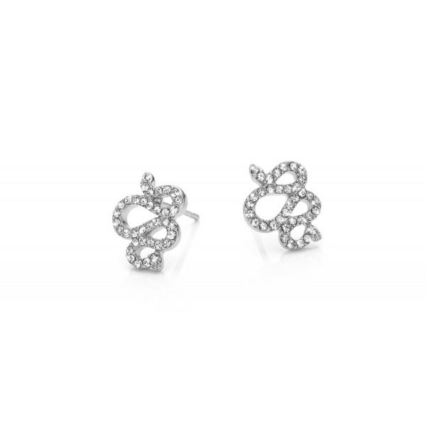 Mya Bay Earrings - Snake with white stones