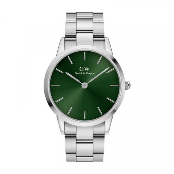 DW - Iconic Link Emerald Silver 40MM