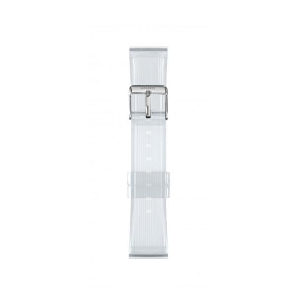 IAM Medium transparent silicone strap