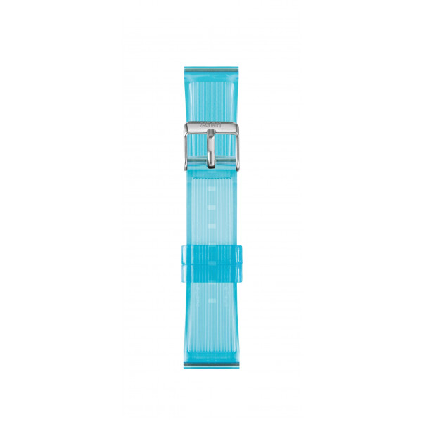 IAM Medium light blue transparent silicone strap