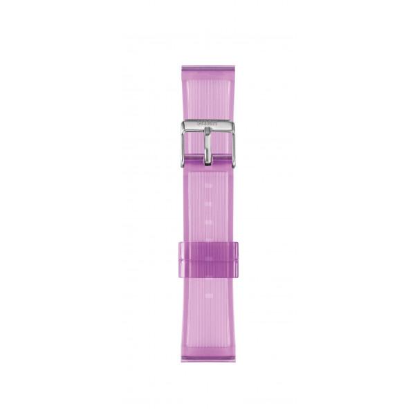 IAM Medium lilac transparent silicone strap