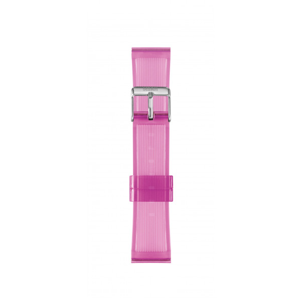 IAM Medium light rose transparent silicone strap