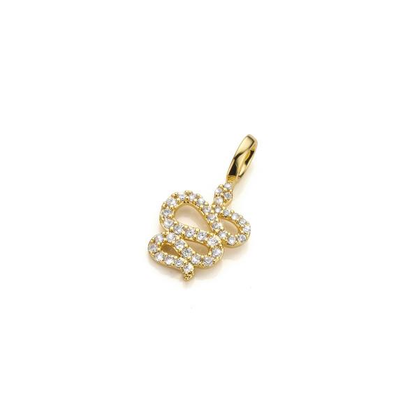 Mya Bay Snake pendant, white stones