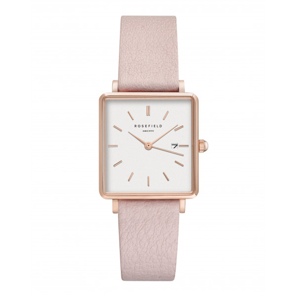 The Boxy White Pink Rose gold