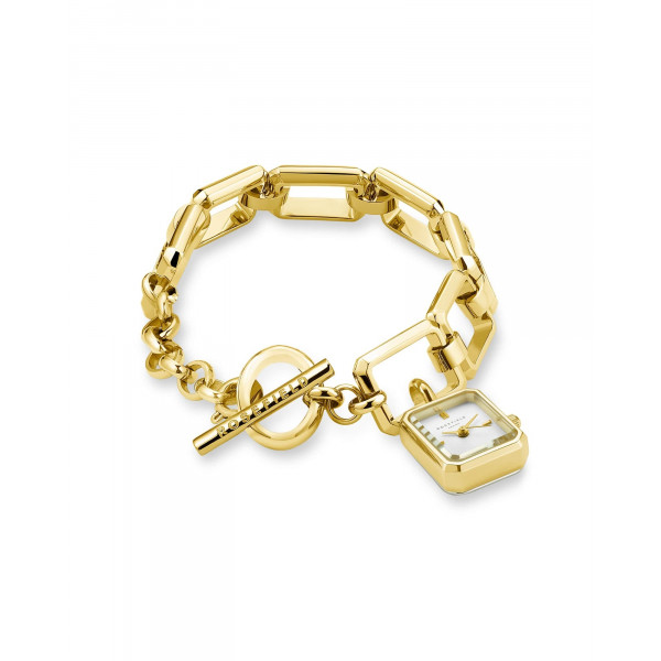 The Octagon Charm Chain White Gold