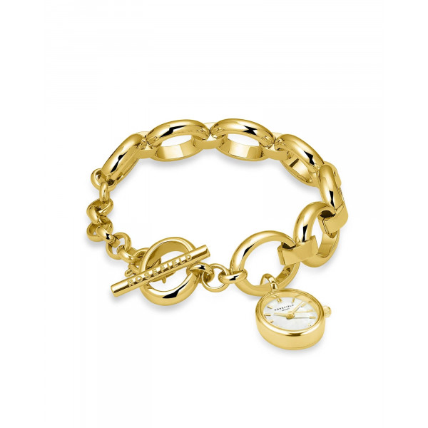 The Oval Charm Chain White Gold
