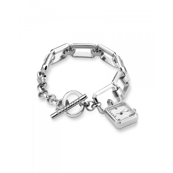 The Octagon Charm Chain White Silver