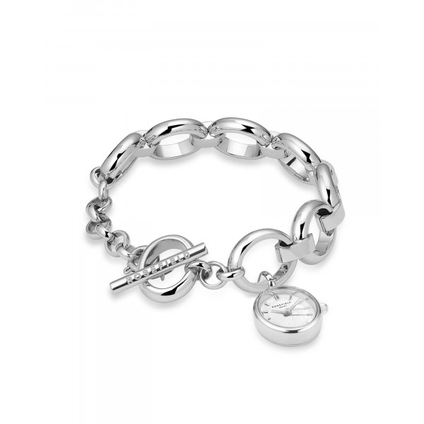 The Oval Charm Chain White Silver